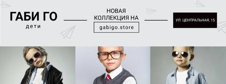 Children clothing store with Stylish Kids Facebook cover – шаблон для дизайна