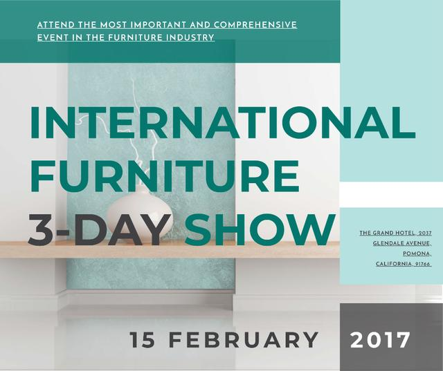 Furniture Show announcement Vase for home decor Facebook Modelo de Design