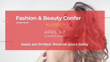 Fashion Event announcement with attractive Woman