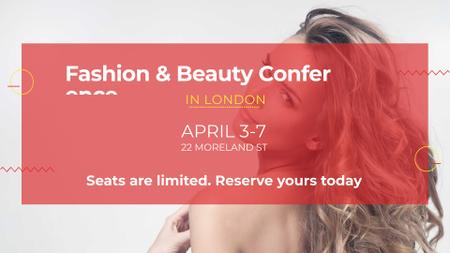 Ontwerpsjabloon van FB event cover van Fashion Event announcement with attractive Woman
