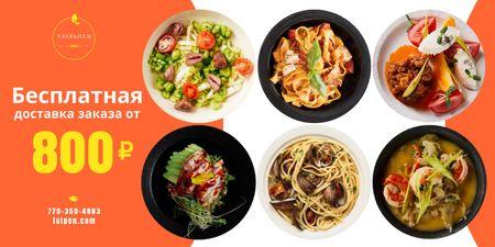 Meal Delivery Menu Offer Twitter – шаблон для дизайна