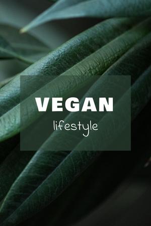 Vegan Lifestyle Concept with Green Leaves Pinterest Modelo de Design