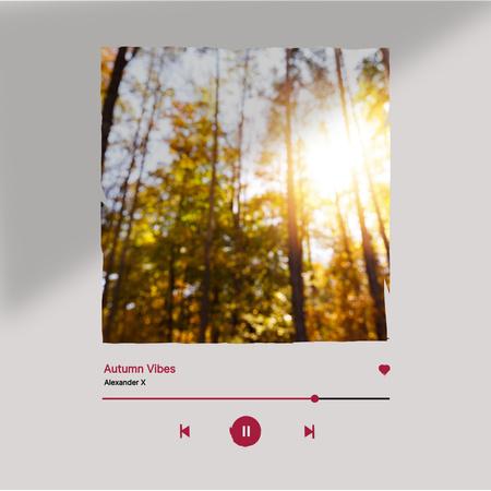 Autumn Inspiration with Sunny Forest Instagram – шаблон для дизайну