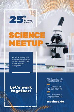 Science Meetup Announcement with Microscope Tumblr tervezősablon