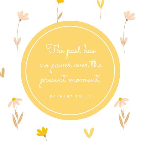 Inspirational Quote on Floral Pattern Instagram – шаблон для дизайна