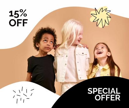 Plantilla de diseño de Special Discount Offer with Stylish Kids Facebook