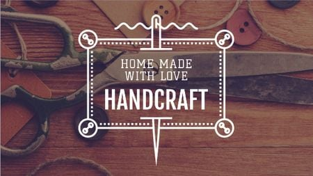 Template di design Handcrafted Goods Store Ad Title