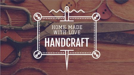 Handcrafted Goods Store Ad Title Design Template