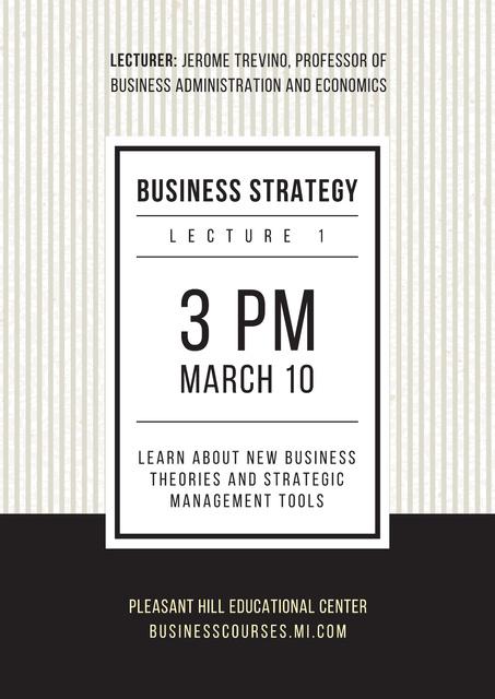 Plantilla de diseño de Business lecture in Educational Center Poster
