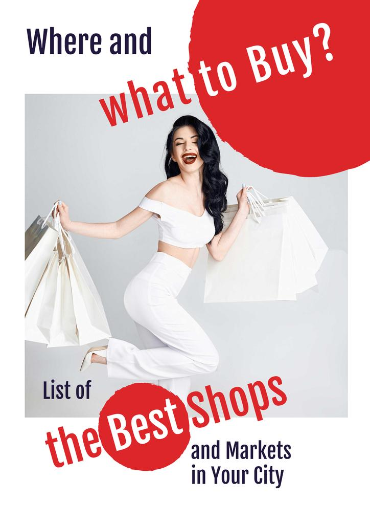 List of the Best Shops with Woman holding shopping bags — Crear un diseño