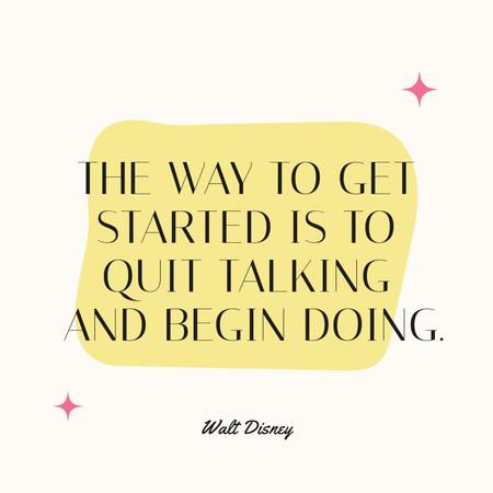 Plantilla de diseño de Motivational Quote with stars Instagram