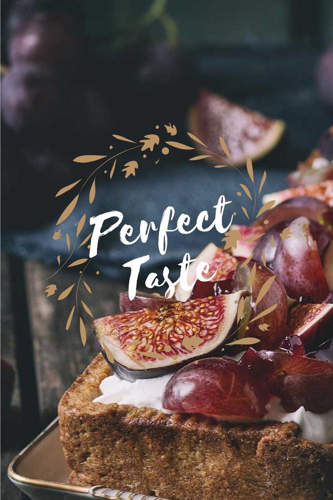 Perfect taste lettering with delicious cake — Crear un diseño
