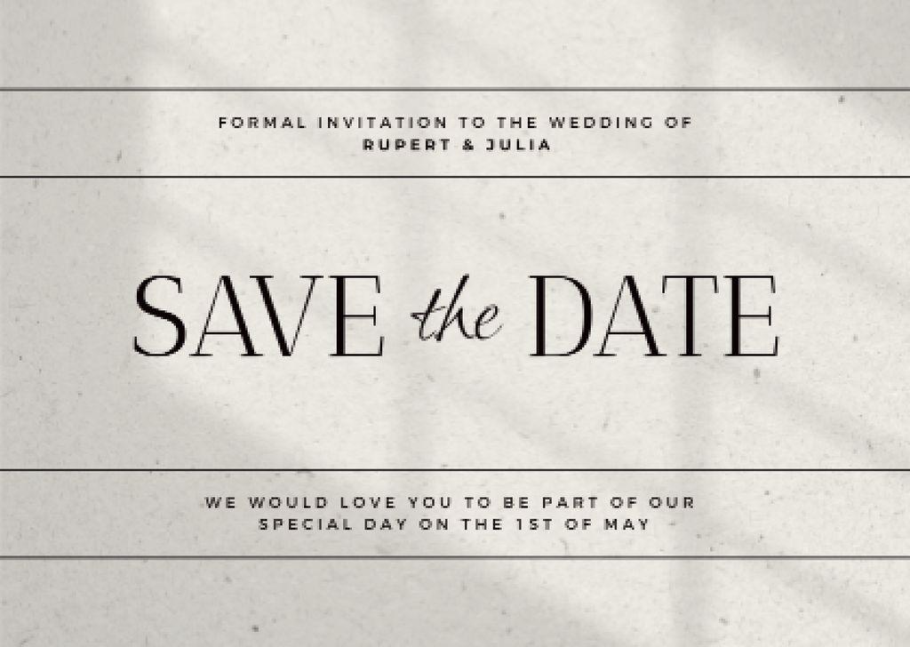 Wedding Day Celebration Announcement Card – шаблон для дизайна