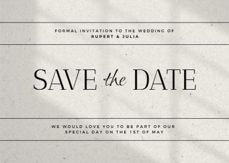 Modèle de visuel Wedding Day Celebration Announcement - Card