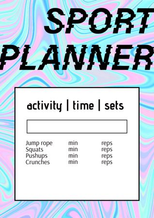 Sport Planner with Bright Gradient Schedule Planner – шаблон для дизайна