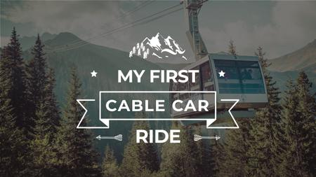 Plantilla de diseño de Cable Car over Forest in Mountains Youtube Thumbnail