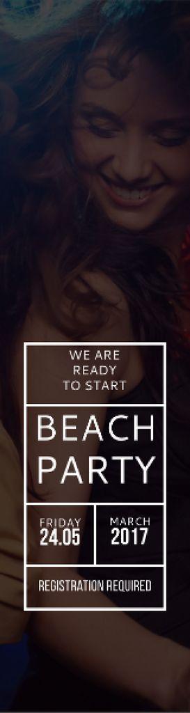 Beach party poster Skyscraper – шаблон для дизайна