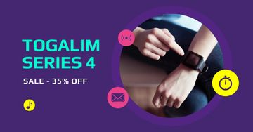 Discount Offer with touching Smart Watch Screen