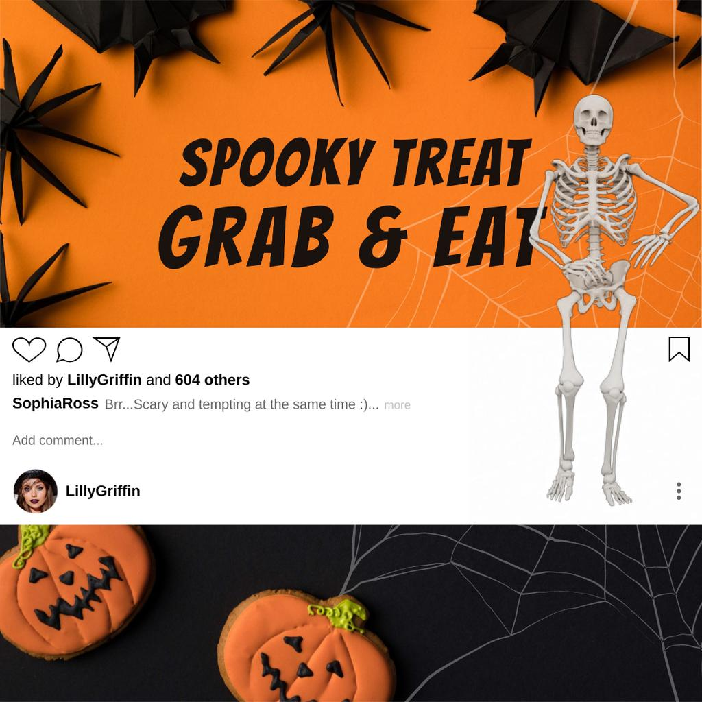 Halloween Treats with dancing Skeleton —デザインを作成する