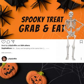 Halloween Treats with dancing Skeleton