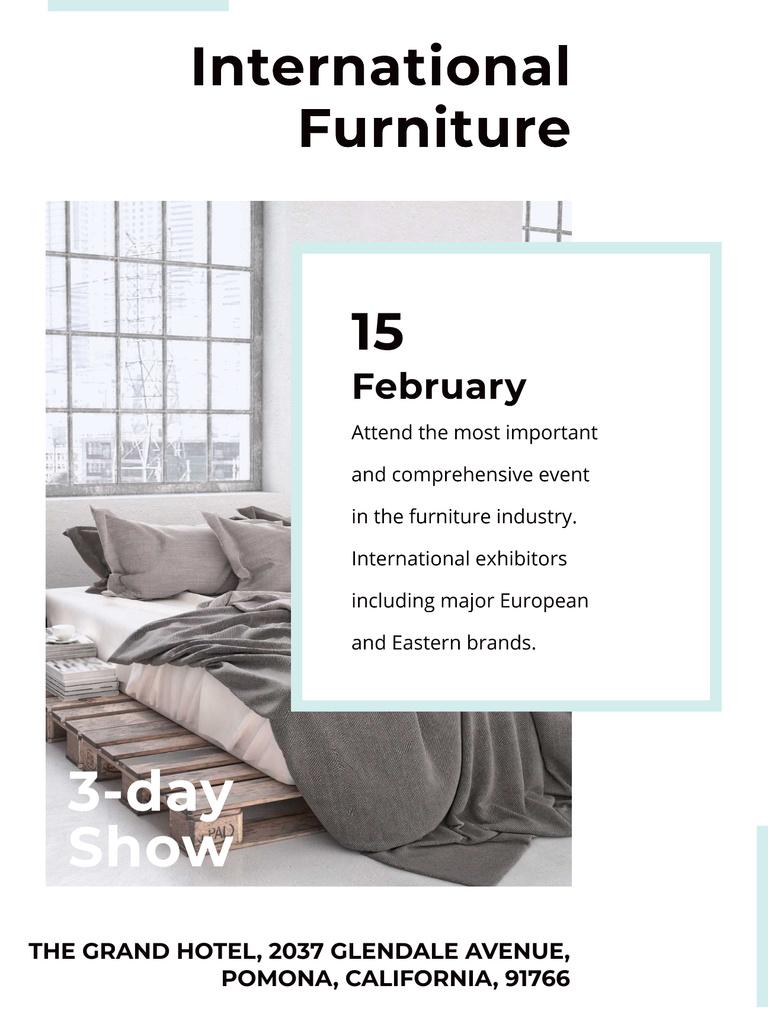 Furniture Show Bedroom in Grey Color — Crear un diseño