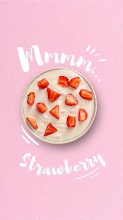 Template di design Summer Dish with Fresh Strawberries Instagram Story