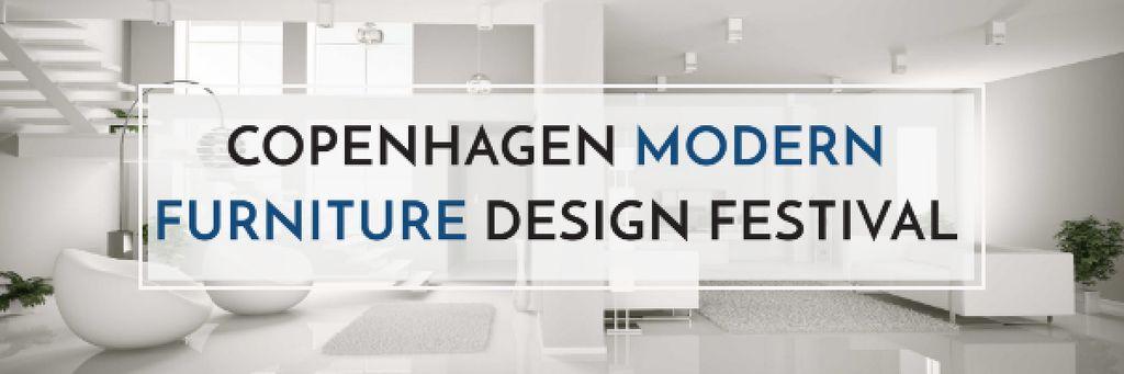 Furniture Design Festival with Modern White Room — ein Design erstellen