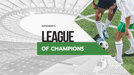 Designvorlage League of Champions Event Announcement für FB event cover