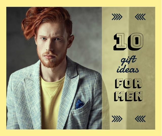 Handsome Man wearing Suit Facebook – шаблон для дизайна