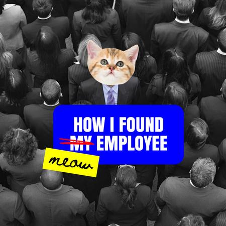 Cute Cat for perfect Employee Instagram – шаблон для дизайну