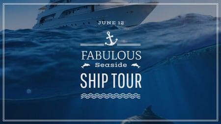 Seaside Resorts Promotion Ship in Sea FB event cover – шаблон для дизайну