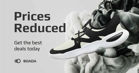 Template di design Special Discount Offer on Stylish Sneakers Facebook AD