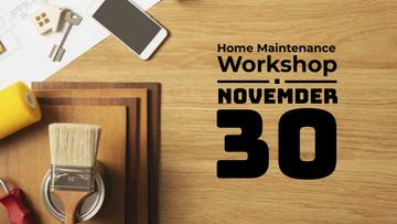 Workshop Announcement with Keys on Table