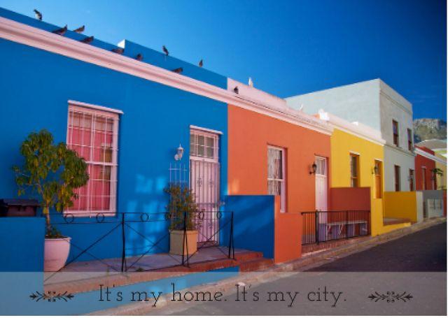 Szablon projektu Quote with Beautiful Houses Card