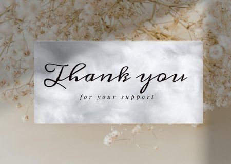 Plantilla de diseño de Cute Phrase with Tender Spring Blossom Card