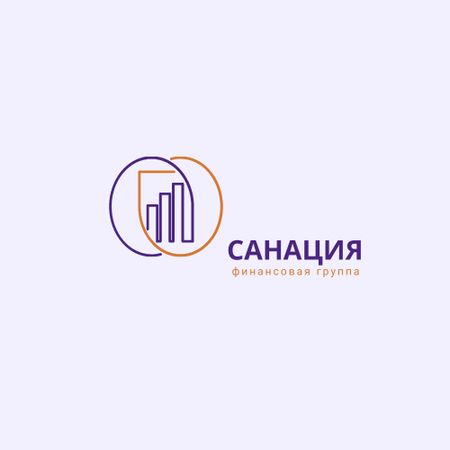 Financial Group Ad with Diagram Icon Logo – шаблон для дизайна