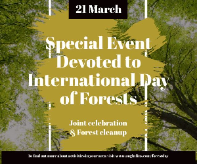 Special Event devoted to International Day of Forests Medium Rectangle – шаблон для дизайна