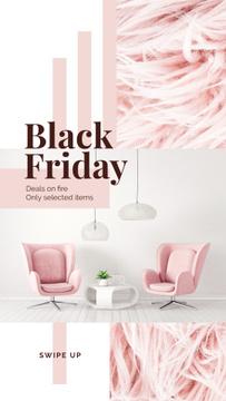 Black Friday Deal Cozy Interior in Pink Color