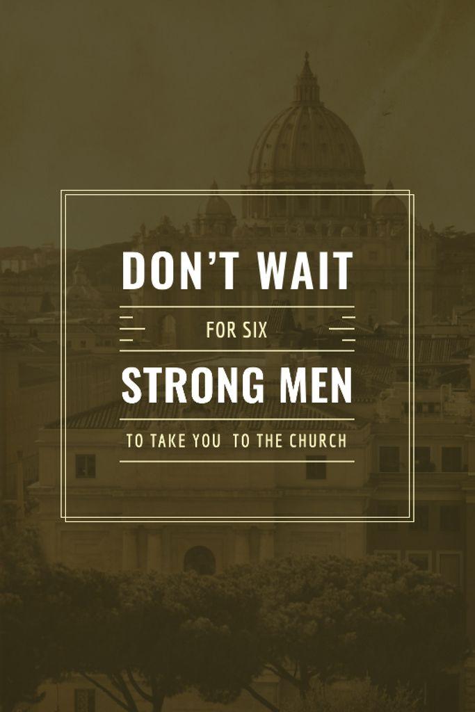 Religious Quote on Old Church View — Crea un design