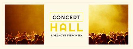 Designvorlage Event Announcement with Crowd on Concert für Facebook cover