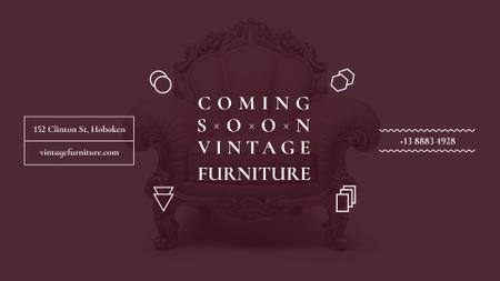 Antique Furniture Ad Luxury Armchair FB event cover – шаблон для дизайну