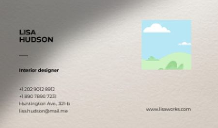 Ontwerpsjabloon van Business card van Professional Interior Designer contacts