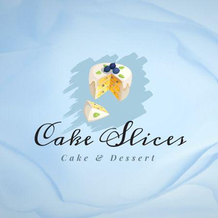 Bakery Ad with Yummy Blueberry Cake Logo – шаблон для дизайна