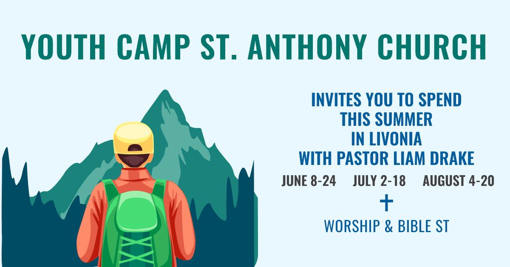 Youth religion camp of St. Anthony Church — Modelo de projeto