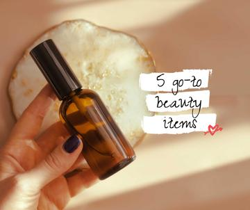 Beauty Product in glass bottle