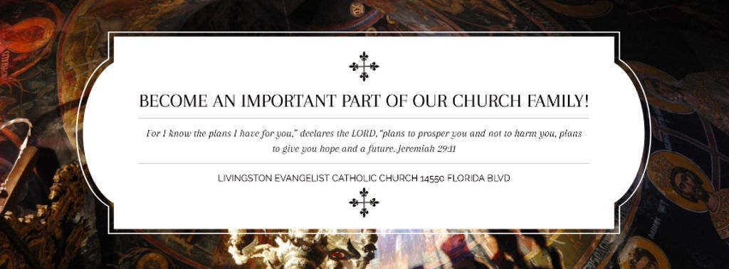 Evangelist Catholic Church Invitation — Modelo de projeto