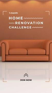 Home Renovation Ad with Stylish Sofa