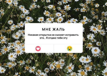 Apology Message with Daisy Flowers Card – шаблон для дизайна
