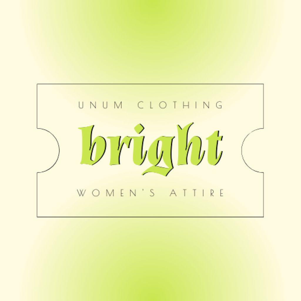 Fashion store Ad with Tag Illustration Logo – шаблон для дизайну