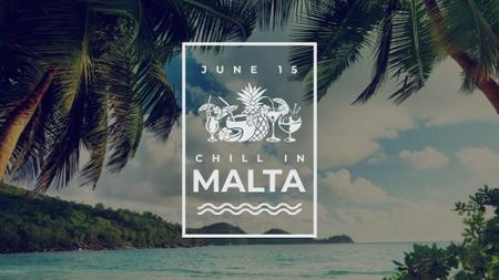Plantilla de diseño de Summer Party Inspiration Palm Trees by Sea FB event cover
